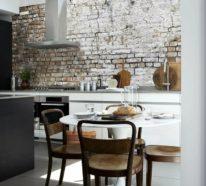 Ziegelwand – 55 Ideen, wie Sie die moderne Küche aufwerten