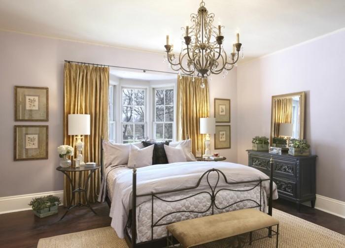 wohnideen schlafzimmer durch die gardinen mehr luxus in den schlafbereich bringen