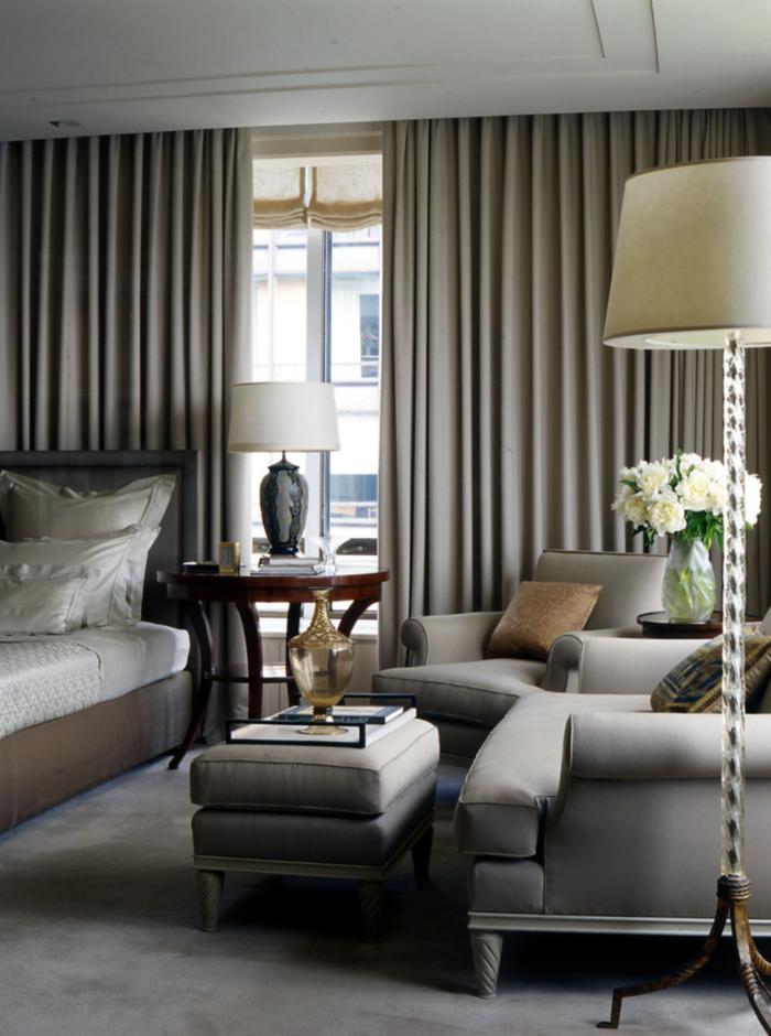 wohnideen schlafzimmer gardinen auswählen elegant und schlicht
