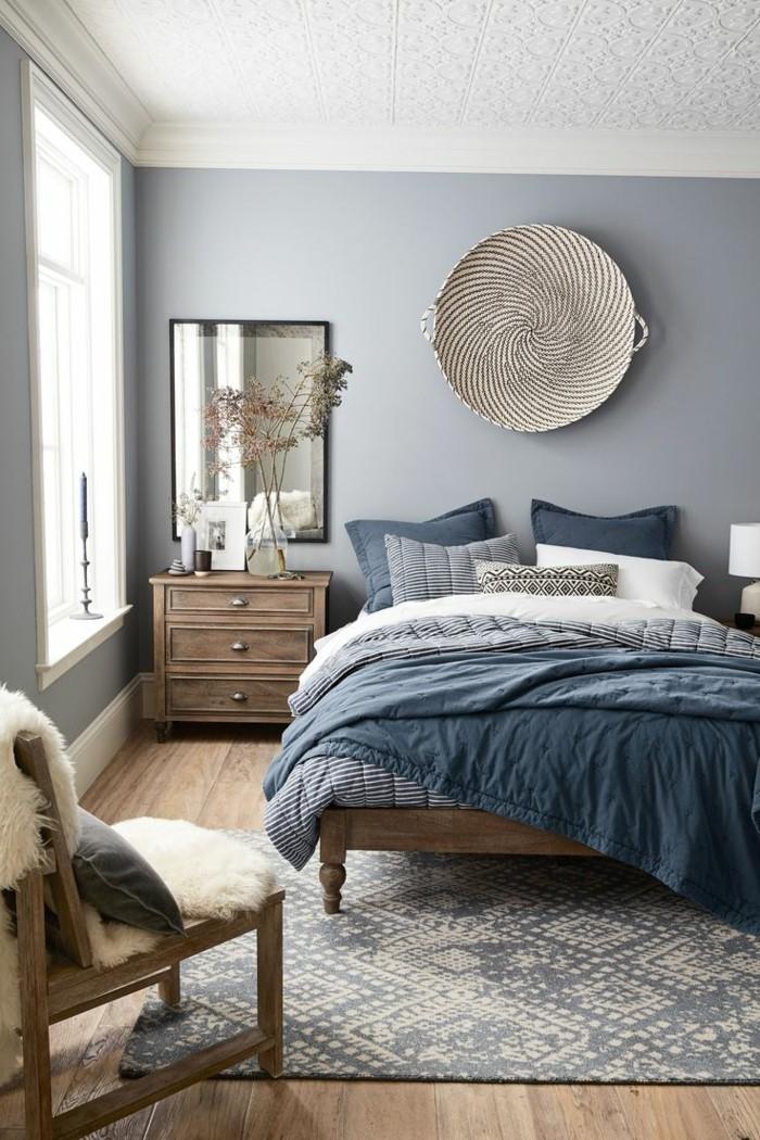 wandfarbe hellgrau wohnideen schlafzimmer graue wände und textilien in neutralen farben