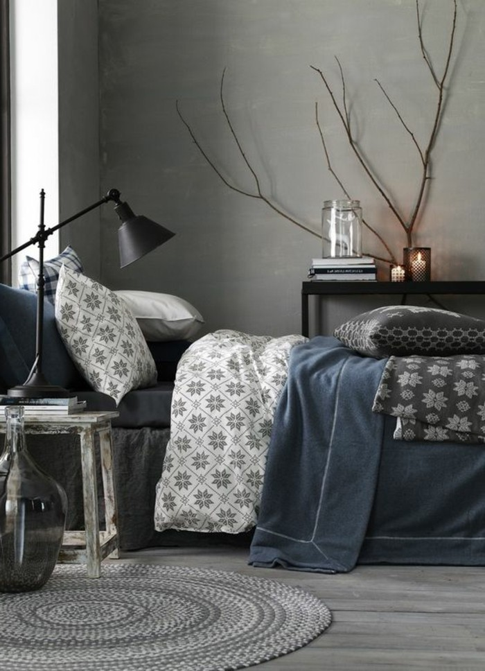 schlafzimmer ideen graublau. Black Bedroom Furniture Sets. Home Design Ideas