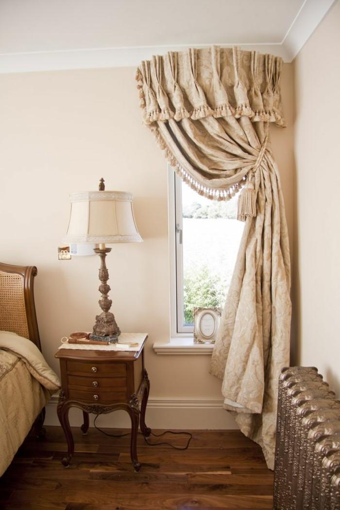wohnideen schlafzimmer schöner sichtschutz in hellen schattierungen