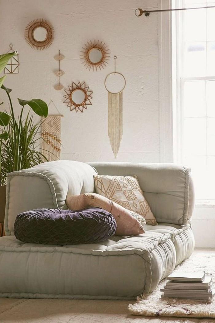 wohnideen wohnzimmer super bequemes sofa mit dekokissen