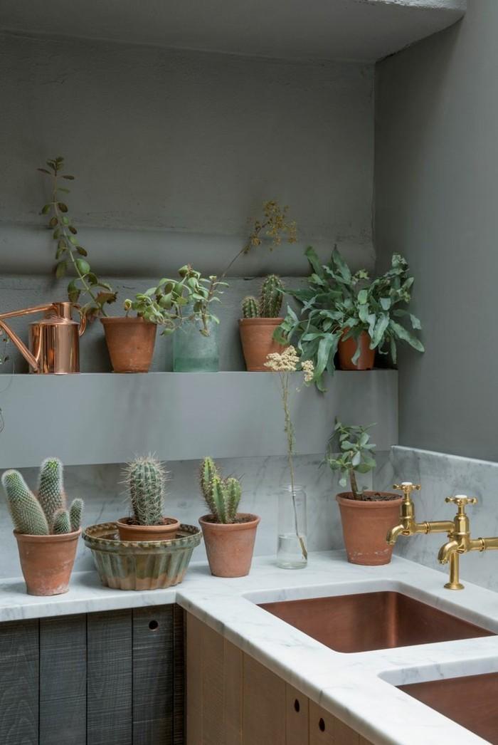 wohnung dekorieren dekoideen für die küche mit pflanzen