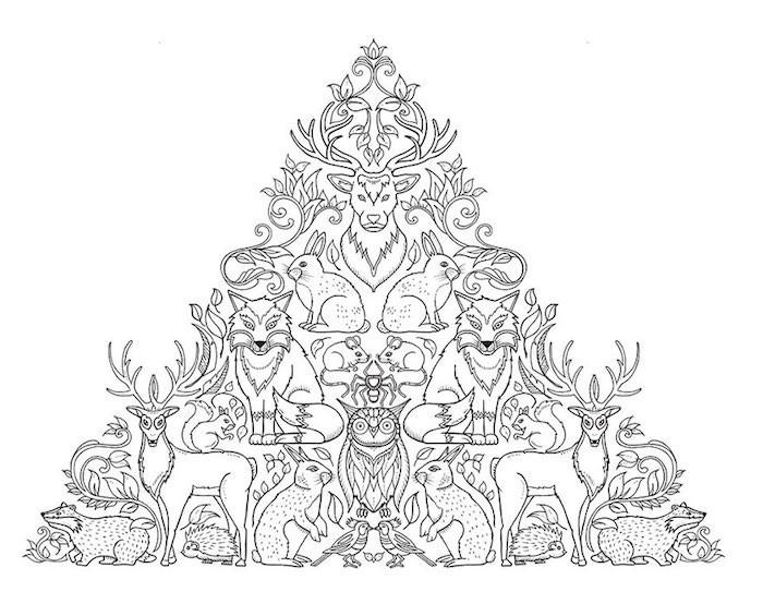 Tiere und pflanzliche Ornamente