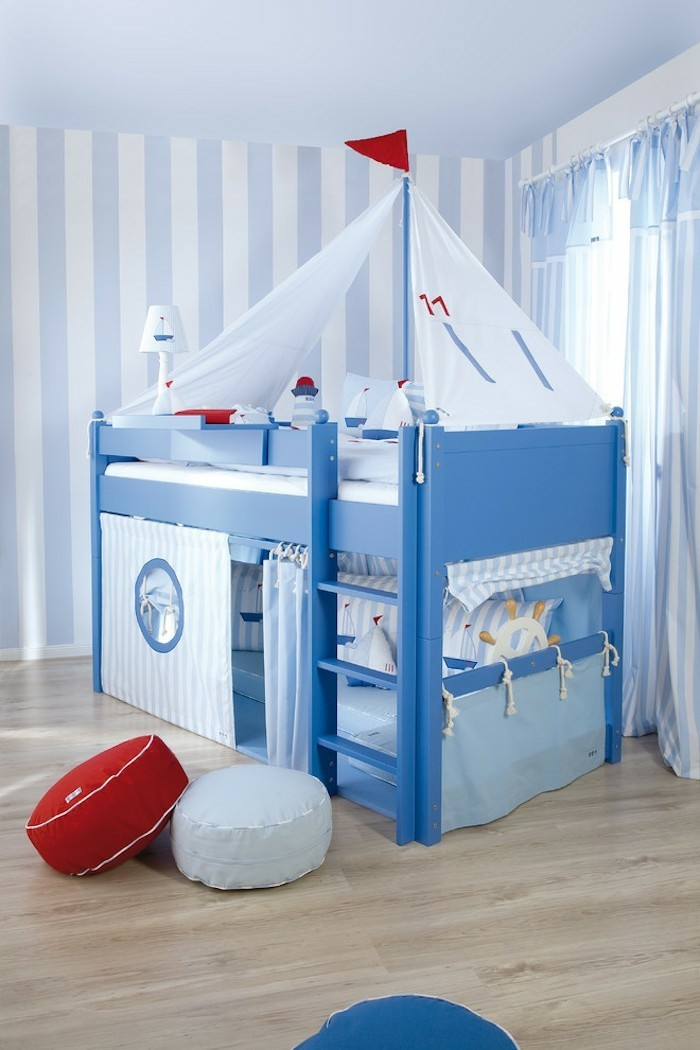 A piece of furniture that makes the nursery look even bigger - children's high bed