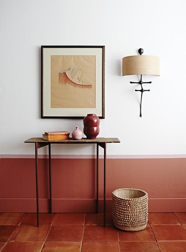 Bodengestaltung Wandideen Rot Terracotta