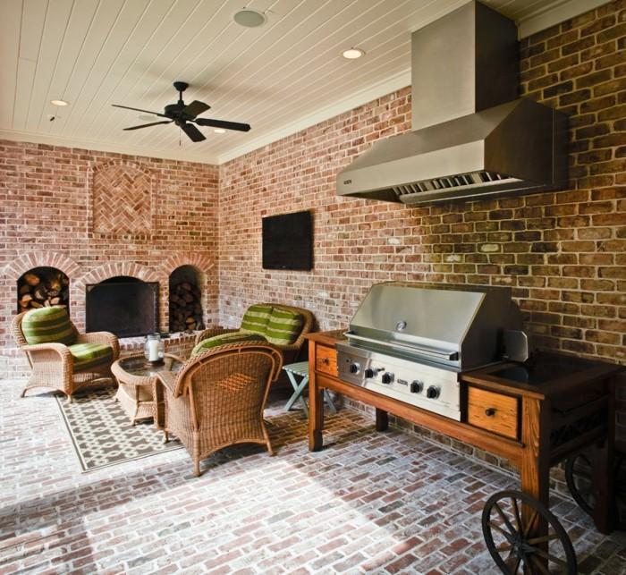 steinwand design grillstelle