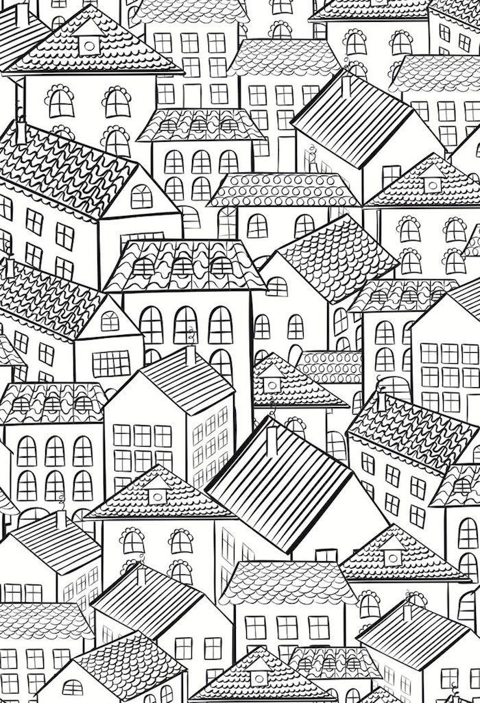 Häuser Malvorlagen