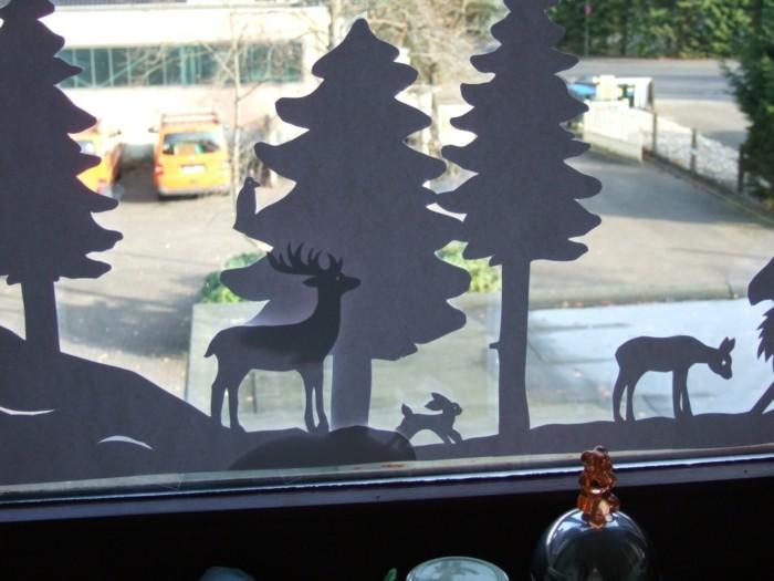 Fensterbilder basteln mit kindern überlappung
