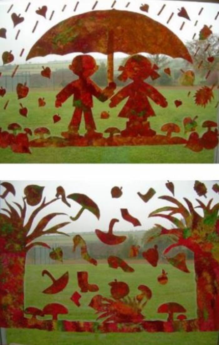 Fensterbilder basteln mit kindern bildmotive