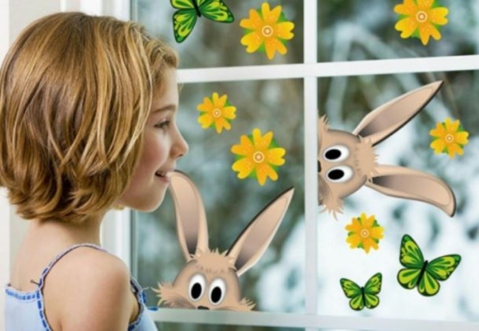 Fensterbilder basteln mit kindern freude