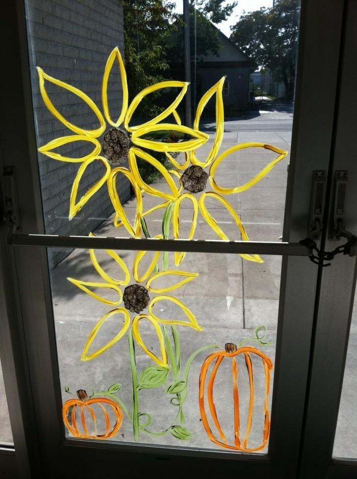 Fensterbilder basteln mit kindern glasmalerei