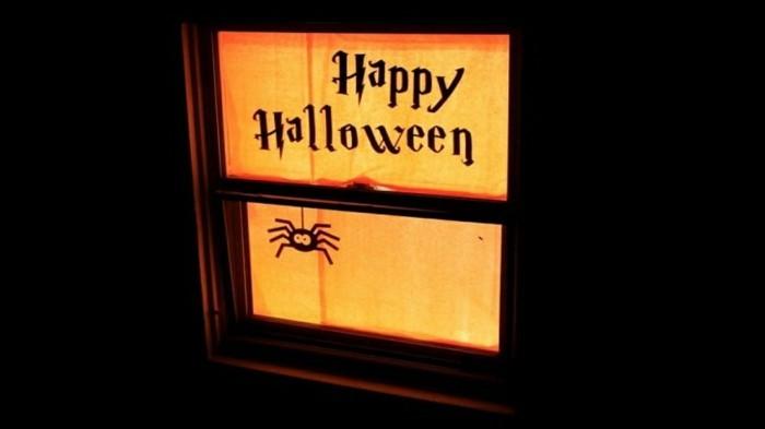 Fensterbilder basteln mit kindern halloween stimmung2