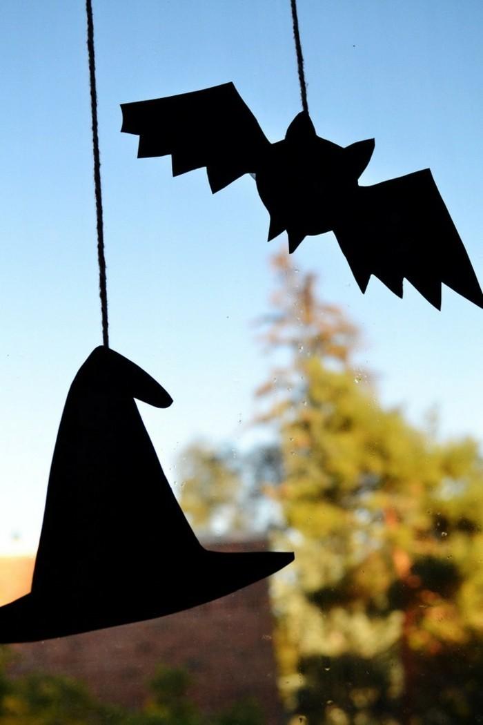 Fensterbilder basteln mit kindern halloween