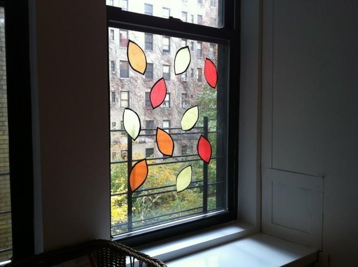 Fensterbilder basteln mit kindern minimal