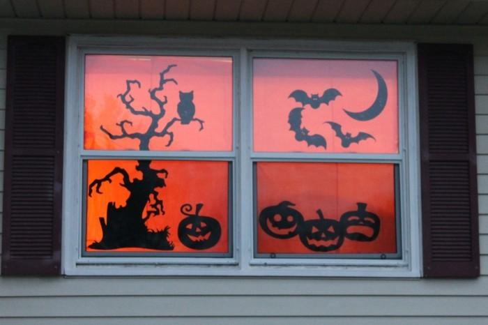 Fensterbilder basteln mit kindern silhouette