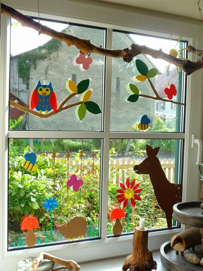 Fensterbilder basteln 64 diy ideen f r stimmungsvolle herbstdekoration - Dekoration furs fenster ...