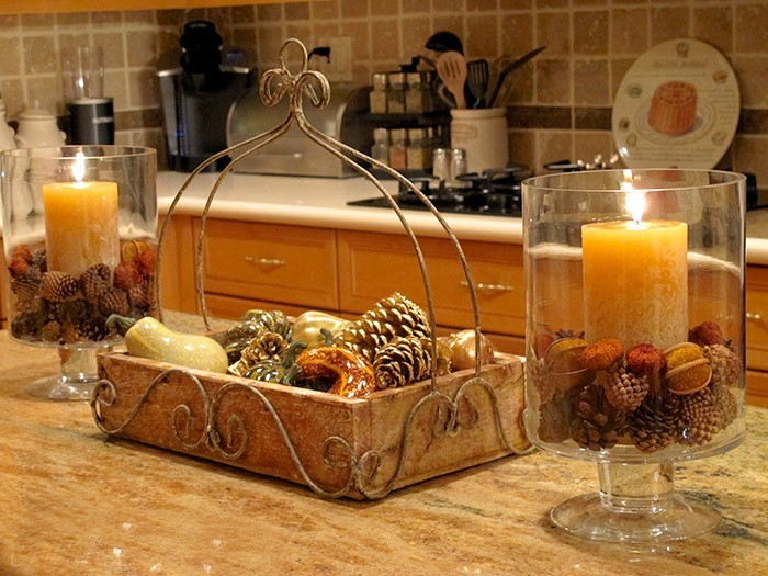 Herbstdeko Küche