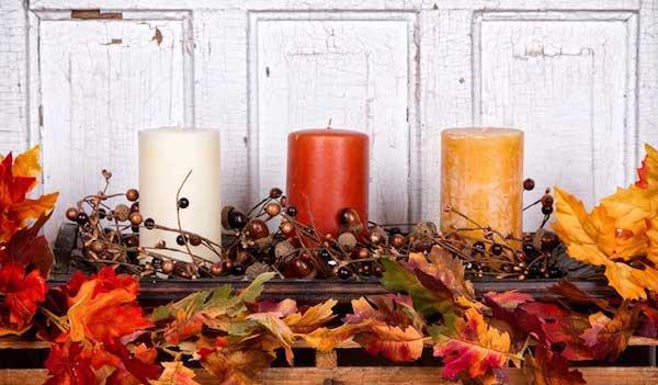 Herbstdeko Kerzen