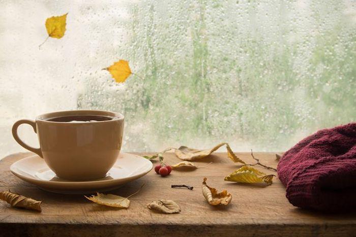 Herbstdeko Komfort Wärme zuhause draußen Regen