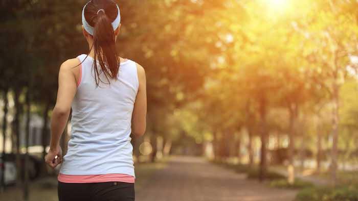 Joggen gesund abnehmen den Stress