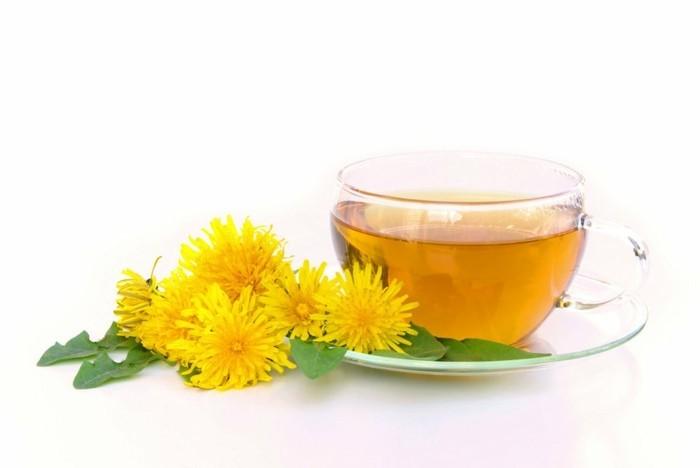 Löwenzahn Tee natürliches Mittel Körperentgiftung