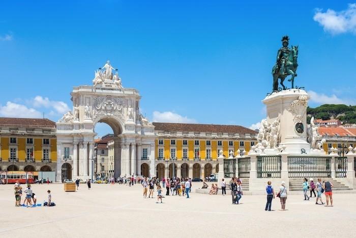 Lissabon Platz des Handels Sehenswürdigkeit