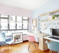 Home Office in Pastellfarben  – ein heißer Trend im Raumdesign