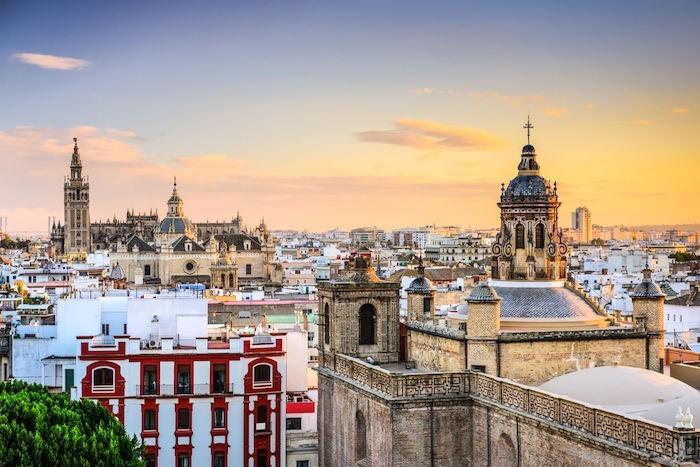 Panoramablick andalusische Hauptstadt Sevilla