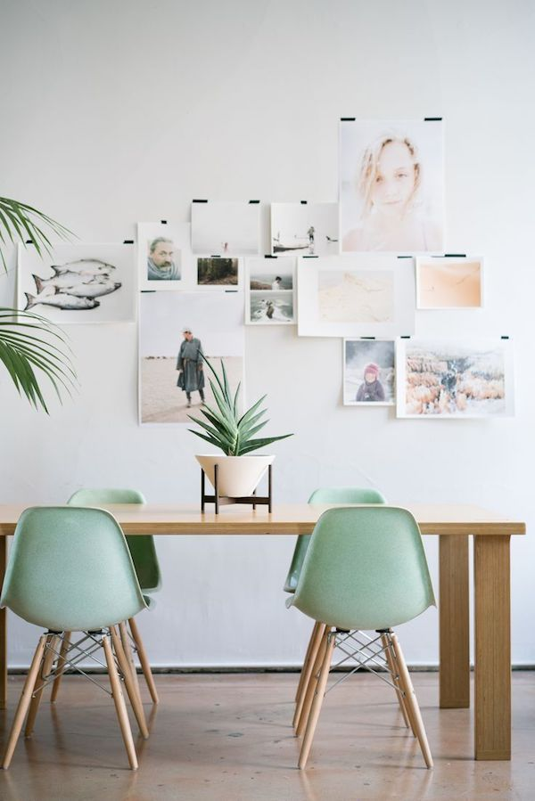 Pastellfarben modernes Home office