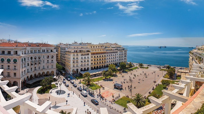 View of Aristotelous square, the heart of Thessaloniki