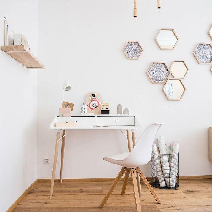 Schreibtisch aufräumen kreativ arbeiten