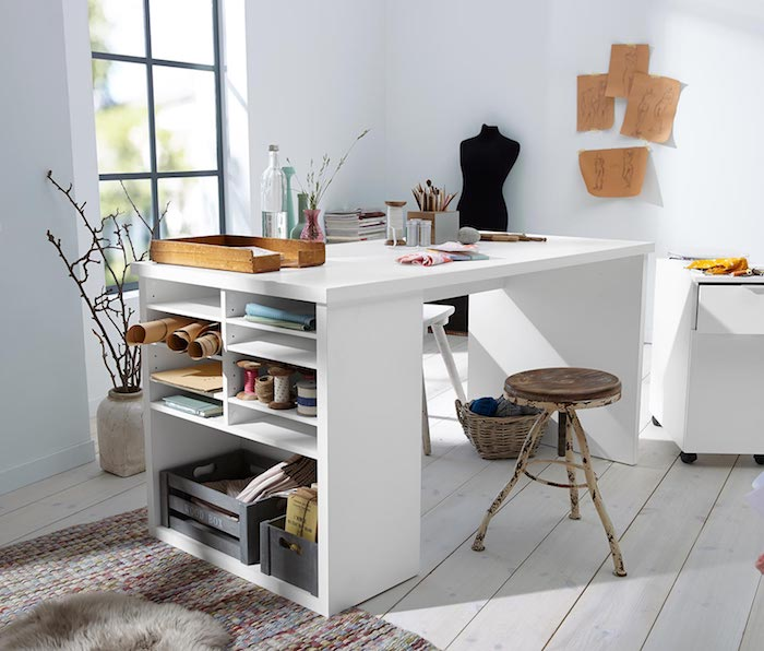 Schreibtisch selber bauen Ideen und Beispiele