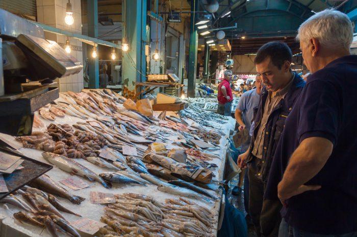 Thessaloniki Fisch Markt
