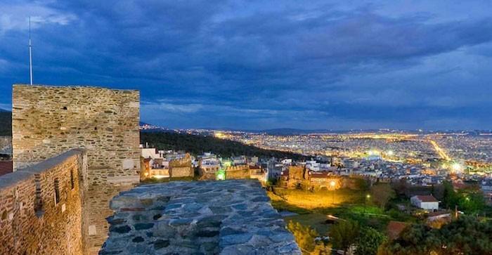 Urlaubsreise Thessaloniki bei Nacht