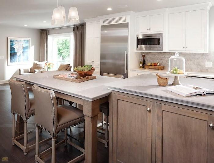 arbeitsplatte küche stilvolle kücheneinrichtung in neutralen farbtönen