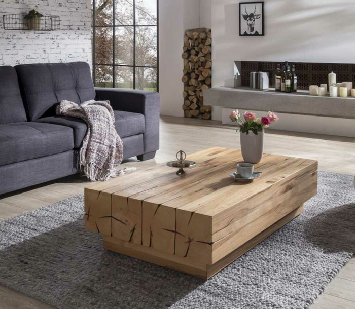 couchtische eleganter wohnzimmertisch aus echtholz
