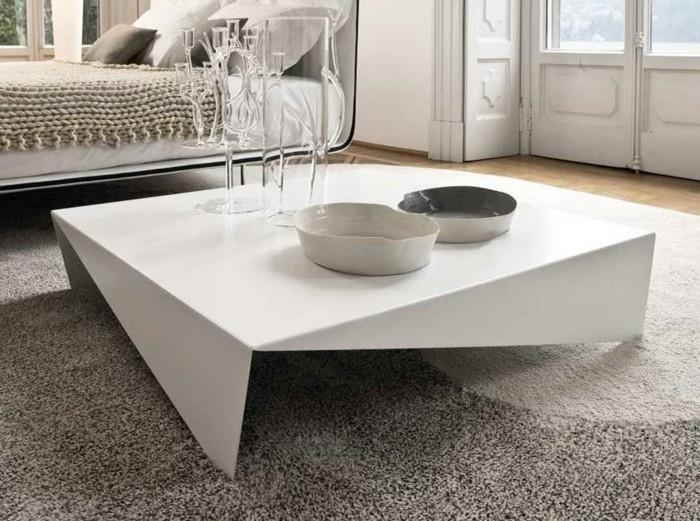 couchtische futuristisches design in weiß