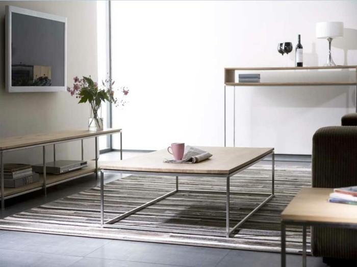 couchtische minimalistischer wohnzimmertisch mit geraden linien