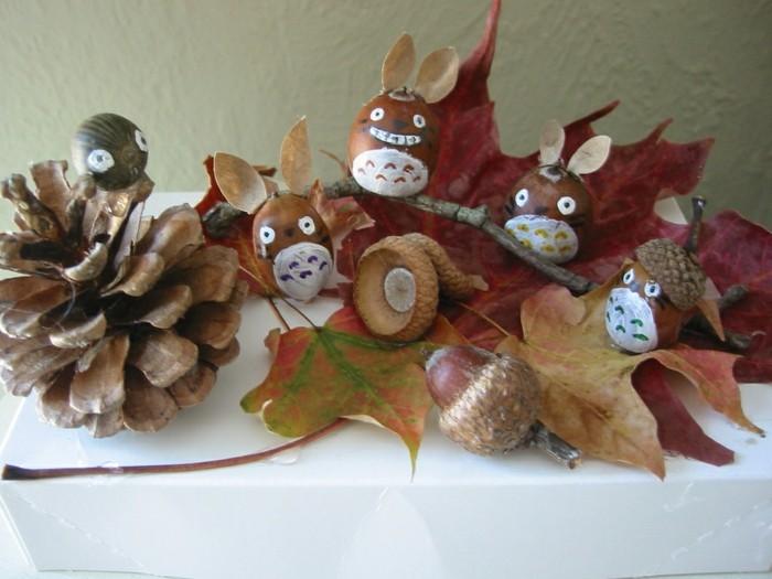 Basteln mit naturmaterialien im herbst 33 dekoideen zum selbermachen - Herbstdeko basteln kindergarten ...