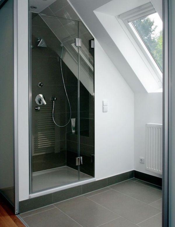 dusche dachschräge badezimmer