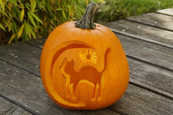 halloween bastelideen kürbis schnitzen selber machen