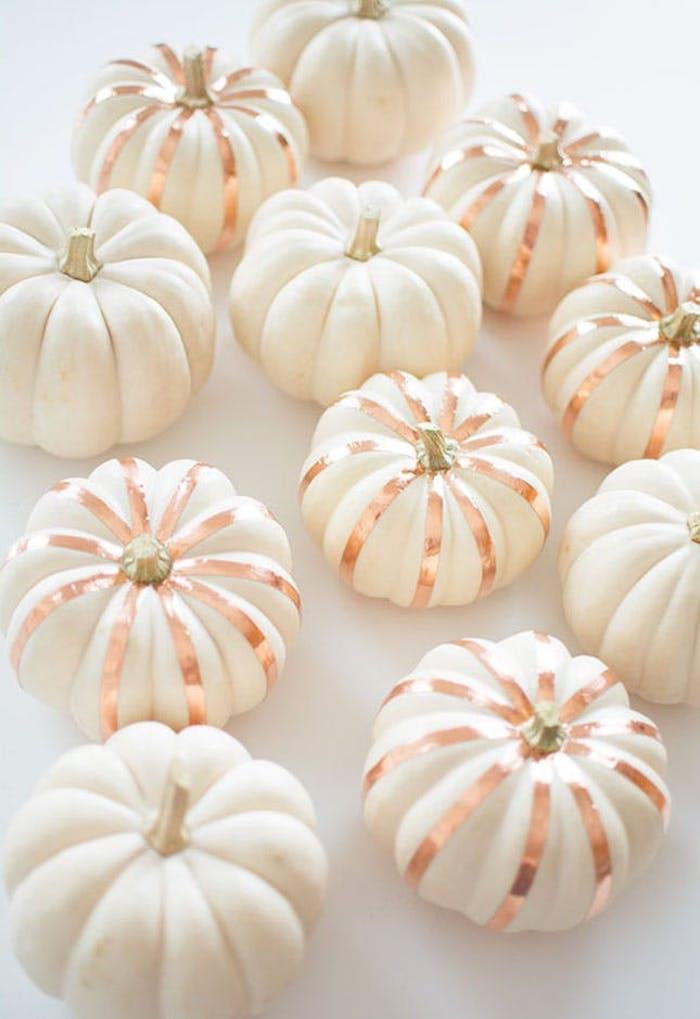 halloween bastelideen kleine kürbisse mit washi tape