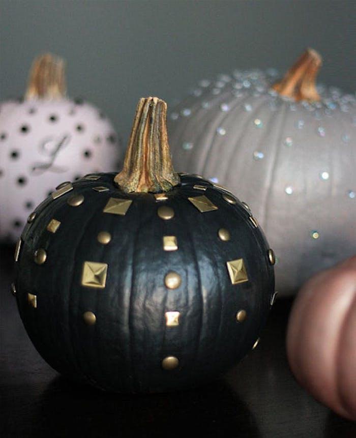 halloween bastelideen schwarzer kürbis