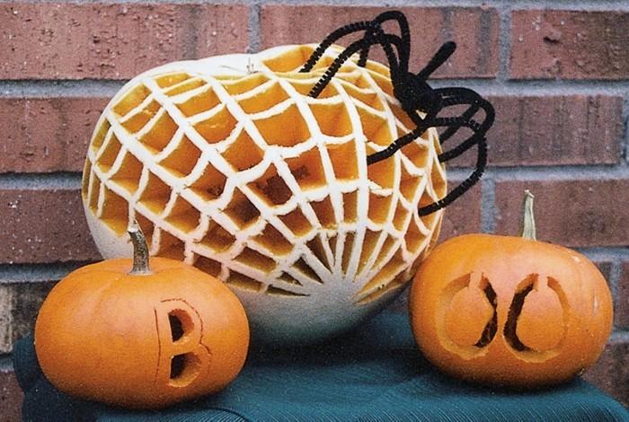 halloween kürbis schnitzvorlageböse kürbislaterne basteln alle heilige