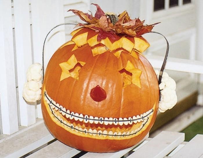 halloween kürbis schnitzvorlageböse kürbislaterne basteln blumenkohl