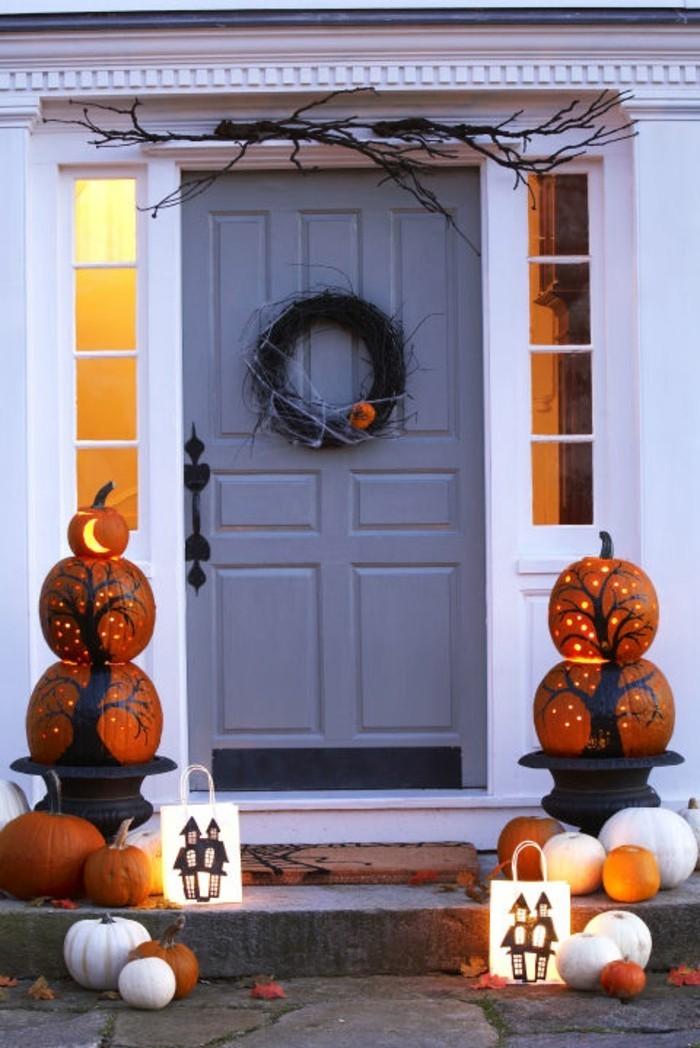 halloween kürbis schnitzvorlageböse kürbislaterne basteln einngansbereich gestalten