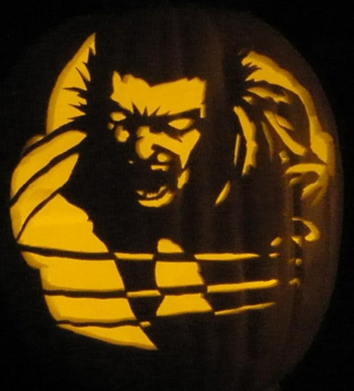 halloween kürbis schnitzvorlageböse kürbislaterne basteln hulk