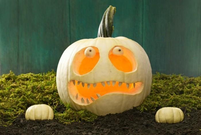 halloween kürbis schnitzvorlageböse kürbislaterne basteln kürbis gesicht komisch